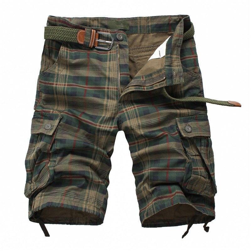Men Shorts Plaid Beach 2020 Summer Mens Casual Camo Camouflage Shorts Military Short Pants Male Bermuda Cargo Overalls Men