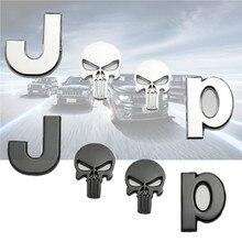 3D for Premium Car Side Fender Rear Trunk Emblem Badge Sticker Decal for Chrysler Grand Cherokee Wrangler car accessorie