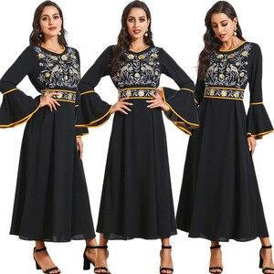Abaya Turkish Dresses Ethnic Malaysia Embroidery Muslim Hijab Dress Abayas For Women Robe Musulmane Kaftan Dubai Islam Clothing