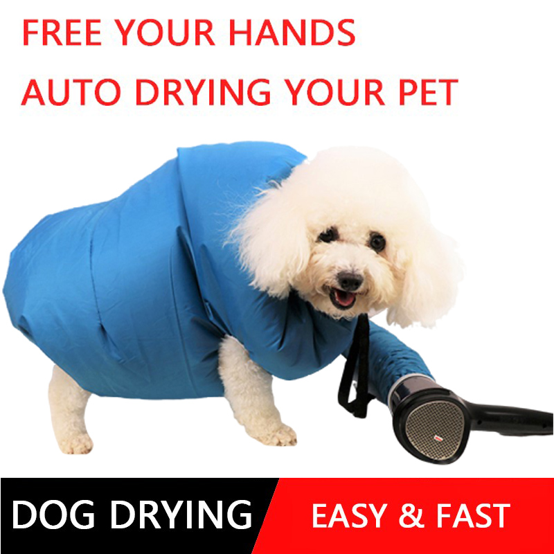 Dog Dryer Puff And Fluff Grooming Dryer Pet Drying Bag Hair Dryer Blower Dog Hair Automatic Quick Drying Clothes Blowing Machine