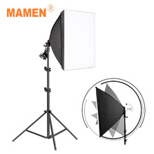 MAMEN Soft Box For Photo Studio Video Equipment Photography Softbox Lighting Kits 50x70CM Professional Continuous Light System(China)