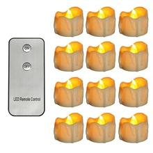 12 sztuk bezpłomieniowe LED świeczki Tea Light zasilanie bateryjne migotanie podgrzewacze na Halloween boże narodzenie dekoracje do domu na imprezę tanie tanio NONE CN (pochodzenie)