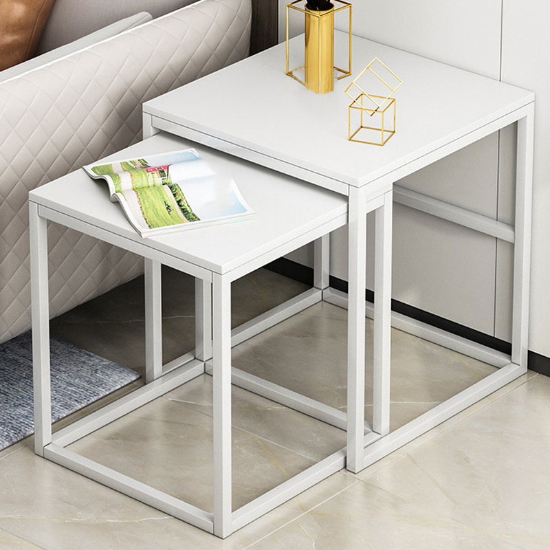 Nordic Coffee Table Expandable Tea Table Set Bedroom Nightstand Small Wooden End Table With Drawer Living Room Furniture