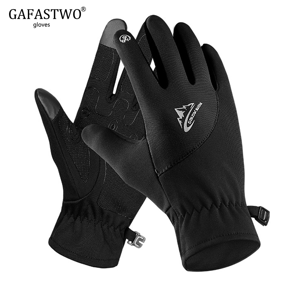 Winter Outdoor Warm Touch Screen Gloves Mens Waterproof Riding All-Weather Windproof Lightweight Gloves Ladies