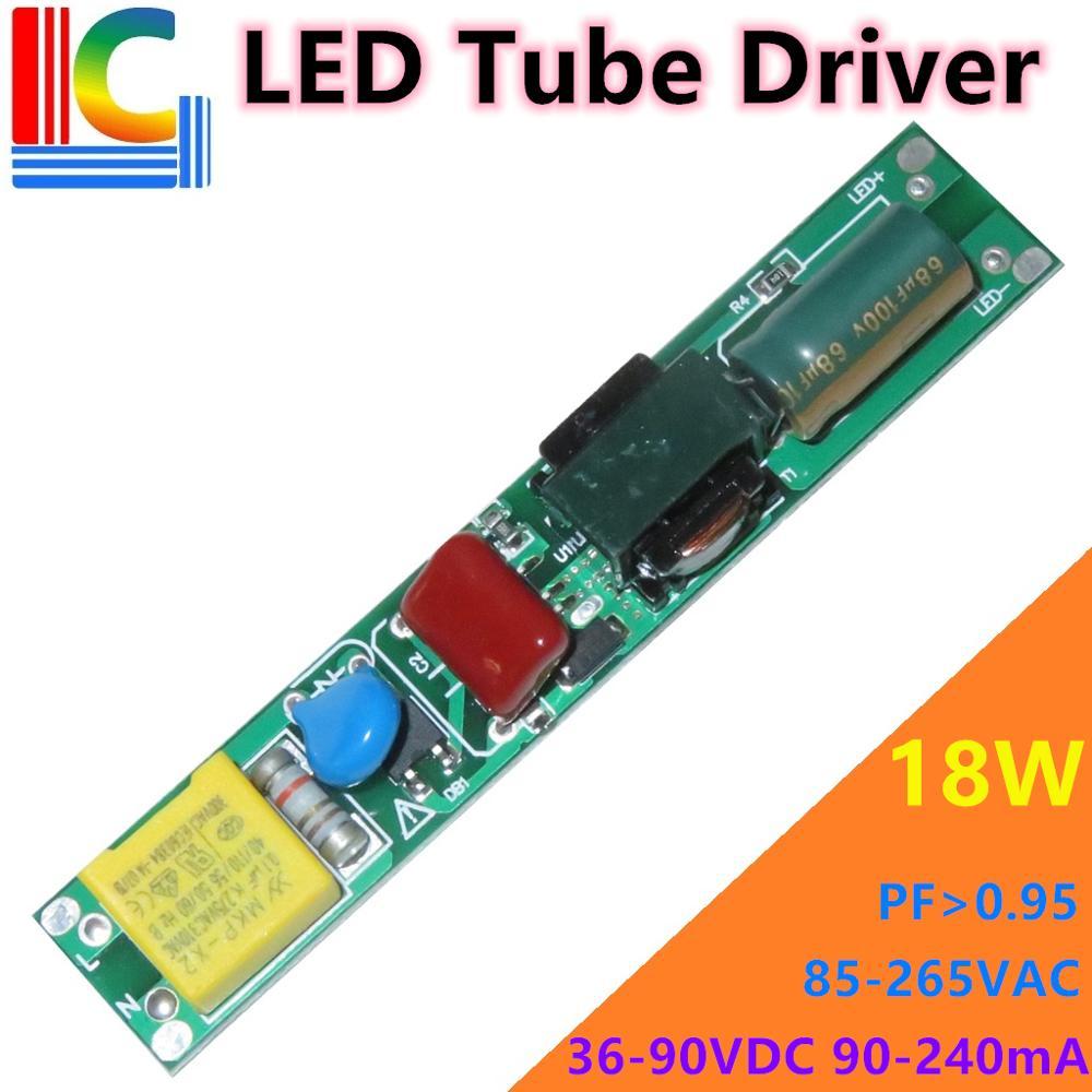 6W 9W 12W 15W 18W LED Tube Driver 110V 220V AC To DC Power Supply 90mA 100mA 120mA 150mA 180mA 200mA 240mA T5 T8 Transformer DIY