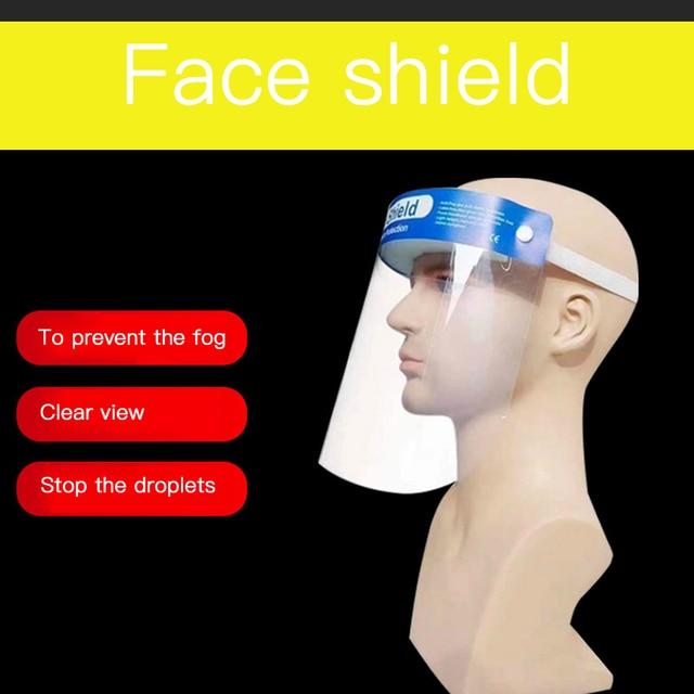 Anti Flu Transparent Protective Face Mask Anti-Fog Splash Oil-Splash Proof Full Face Mask Protect Shield Anti-Shock Safety Mask 5