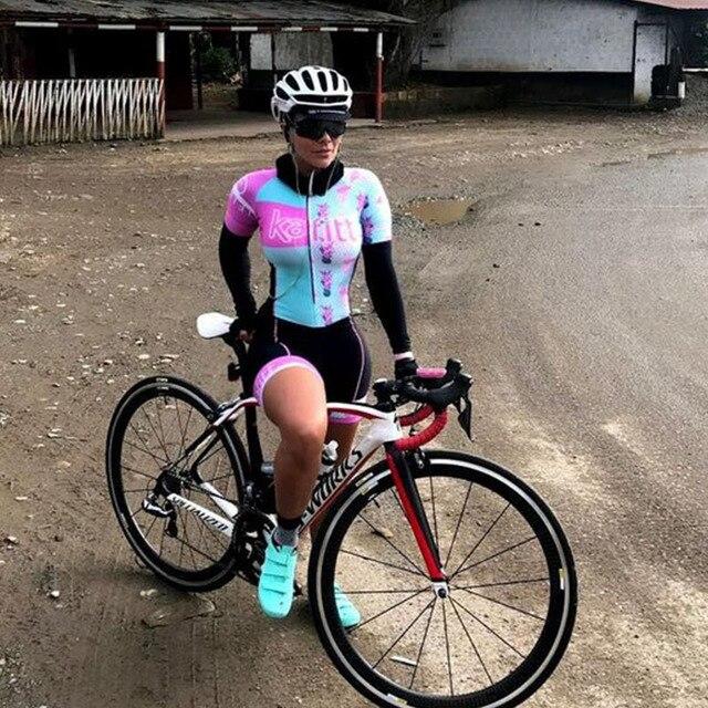 2020 kafitt-ciclismo estilo feminino triathlon ciclismo terno macaco de uma peça 9d almofada bicicleta profissional conjunto pro 4