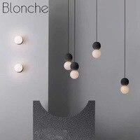Nordic Creative Mini Pendant Light Modern Simple Cement Led Hanging Lamp for Kitchen Bedroom Bar Coffee Vintage Decor Luminaire