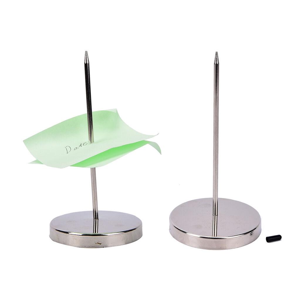 1pcs Stainless Steel Straight Rod Paper Memo Holder Bill Fork Fork For Receipt Receipt Note Spike Stick