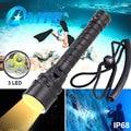 TMWT 3000лм подводный светильник фонарь 100 м ультра яркий XM-L2 Yello 3 светодиодный холодный белый акваланг для дайвинга вспышка светильник специал...