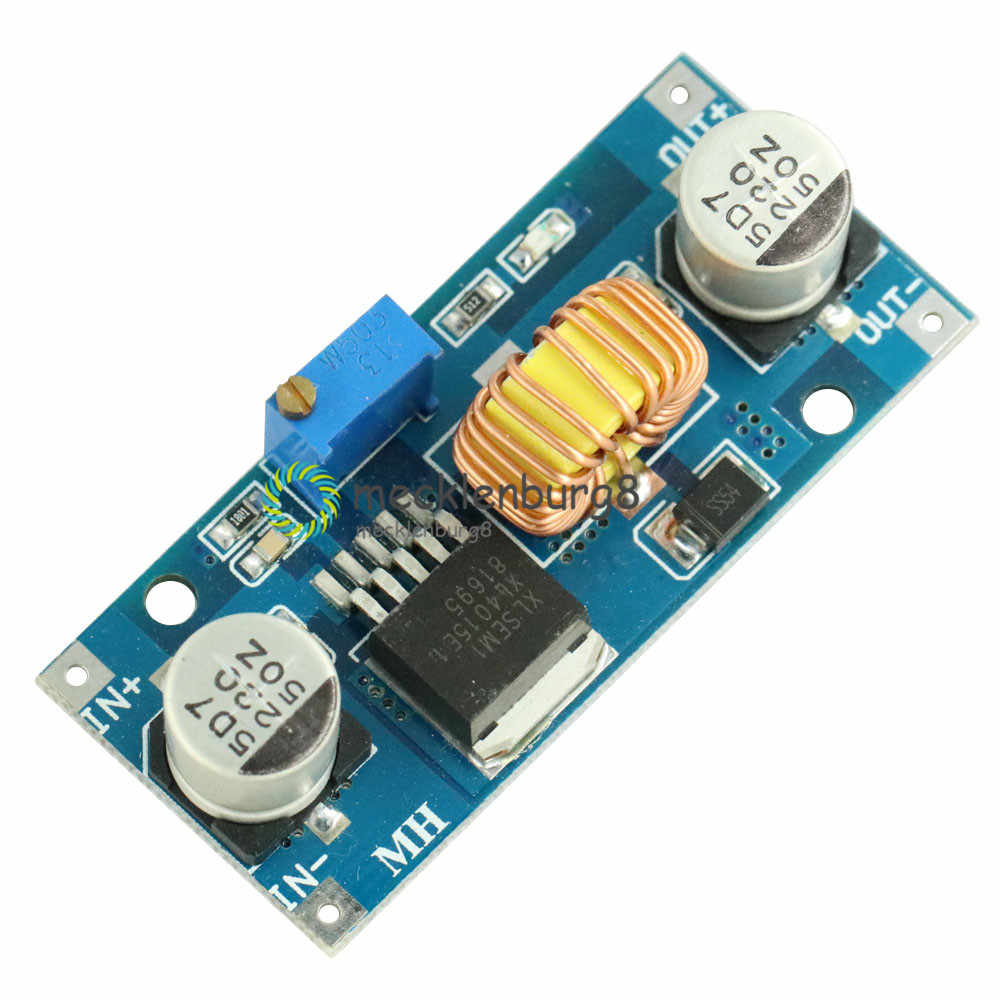 1 Pcs 5A XL4015 DC-DC 4-38V untuk 1.25-36V 24V 12V 9V 5V Step Down Adjustable Power Supply Modul LED Lithium Charger dengan Heat Sink