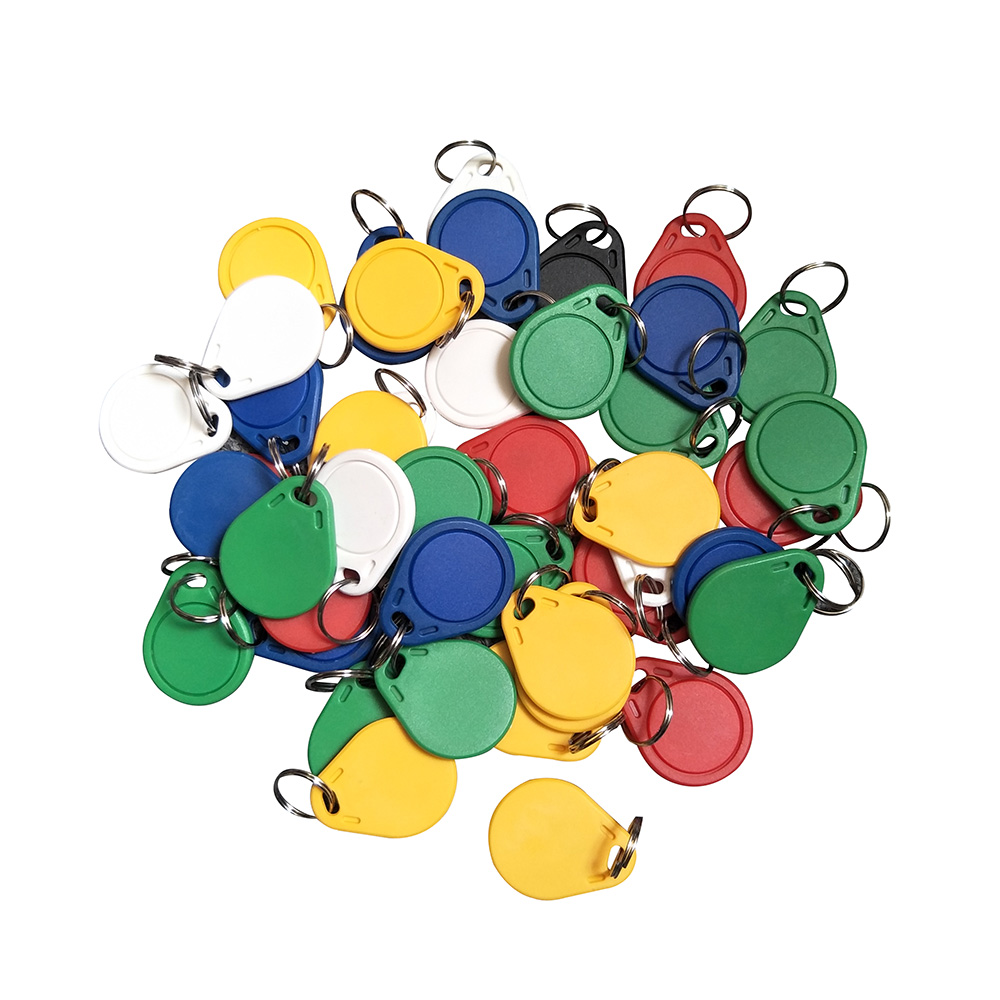 (100PCS/lots) Dellon Entrance 13.56 Mhz Block 0 Sector Rewritable RFID M1 S50 <font><b>UID</b></font> Changeable Card Tag Keychain Keyfob <font><b>ISO14443A</b></font> image