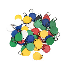 (100PCS/lots) Dellon Entrance 13.56 Mhz Block 0 Sector Rewritable RFID M1 S50 UID Changeable Card Tag Keychain Keyfob ISO14443A