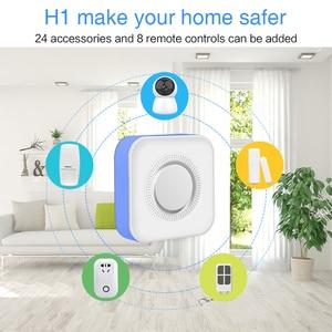 Image 2 - Tuya inteligente wi fi sistema de alarme segurança em casa 433mhz sem fio sirene estroboscópica alarme compatível com alexa google início tuya app