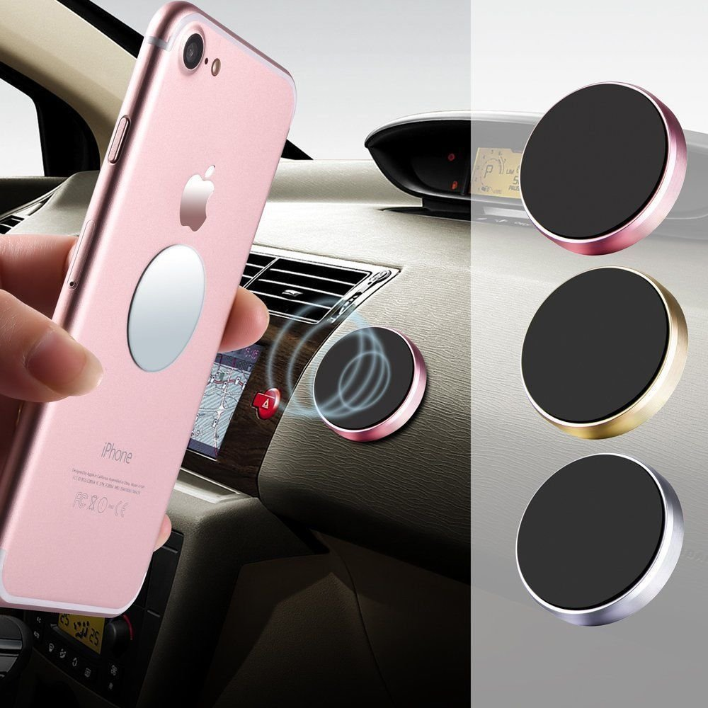 Magnetic Car Phone Holder Dashboard Magnet Holder Steering Wheel Wall-mounted Phone For IPhone Samsung Xiaomi Multiple Uses