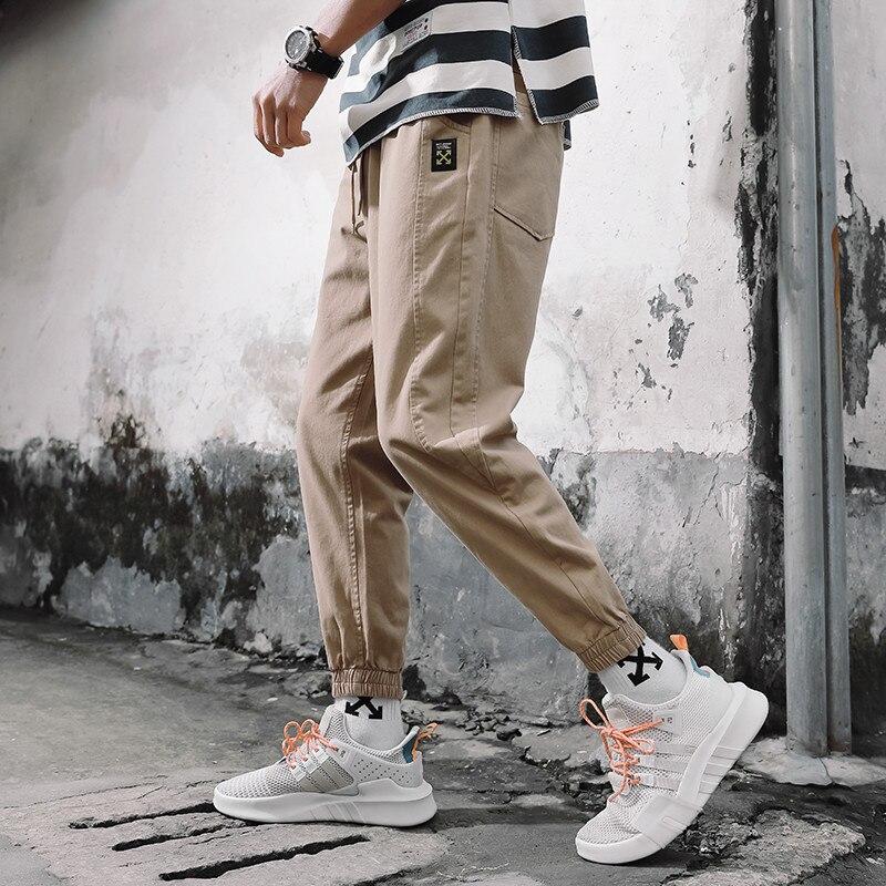 Bib Overall Men's Popular Brand Loose Casual Men Handsome Capri Pants Japanese-style Summer Korean-style Trend Beam Leg Athletic