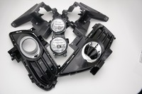 Complete Set Fog Light Foglamp Kit + Bezel Covers + Brackets with Halogen Bulbs for Ford FUSION/MONDEO 2013 2016
