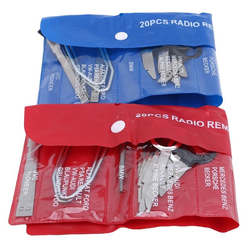 Car Audio Maintenance kit Auto Trim Stereo Repair Panel Remover Pry Bar Car Dash Radio Door Trim Panel Clip Tools set