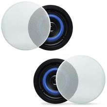 """Herdio 4"""" 160 Watts 2 Way Flush Mount in Ceiling in Wall Speakers Perfect For Bathroom, Kitchen,Living Room,Office"""