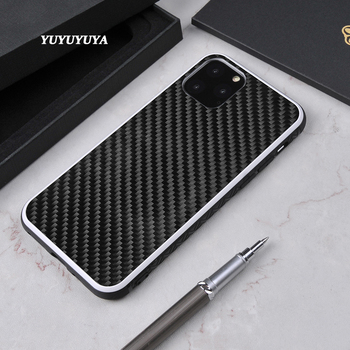 YUYUYUYA luxury for iPhone 11 Pro Max XS MAX XR SE2020 phone case carbon fiber iPhone 6 6S 7 8 plus X XR XS MAX phone drop cover
