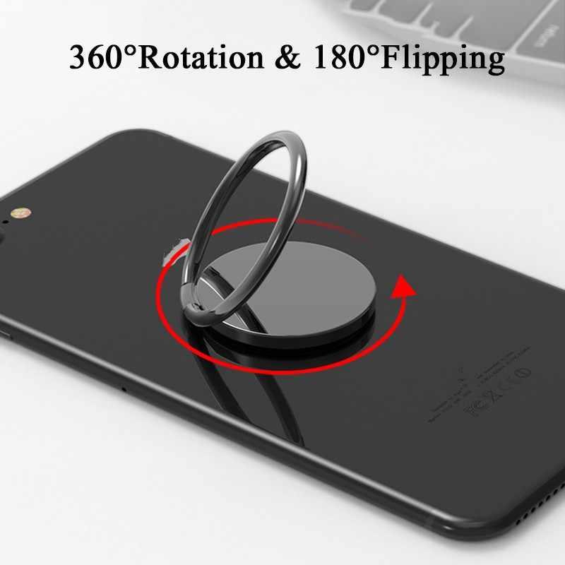 ספין Rotatable דק מגנט מתכת אצבע טבעת טלפון מחזיק 360 תואר Rotatable Smartphone שקע עבור מגנטי Smartphone Stand
