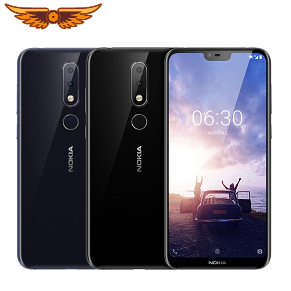 Nokia 6,1 Plus оригинальный Nokia X6 Восьмиядерный 5,8 дюймов 4 Гб ОЗУ 64 Гб ПЗУ LTE 16 МП 2160P смартфон со сканером отпечатков пальцев разблокированный сото...