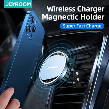 15W Qi magnetyczna bezprzewodowa ładowarka samochodowa uchwyt telefonu dla iPhone 12 Pro Max uniwersalny bezprzewodowy uchwyt samochodowy do telefonu Huawei tanie i dobre opinie Joyroom Ładowarka bezprzewodowa Magnetyczne CN (pochodzenie) JR-ZS240 Gun Color Sea Blue Car Holder For iPhone12 Pro