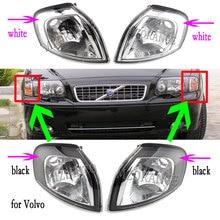Dla Volvo S80 1999 2006 narożna lampa narożna lampa s reflektor reflektory bez żarówki włącz światła sygnalizacyjne światła przeciwmgielne biały/czarny