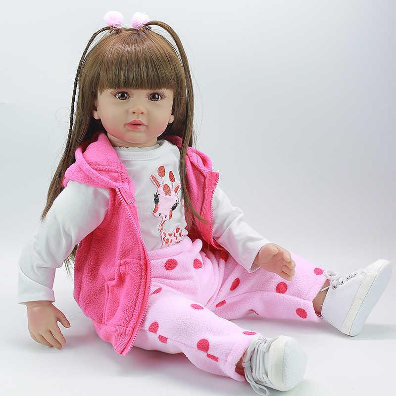 Детские волосы 60 см реалистичные детские волосы с лучшими подарками на день рождения для детей детские высококачественные силиконовые rebo принцессы для девочек