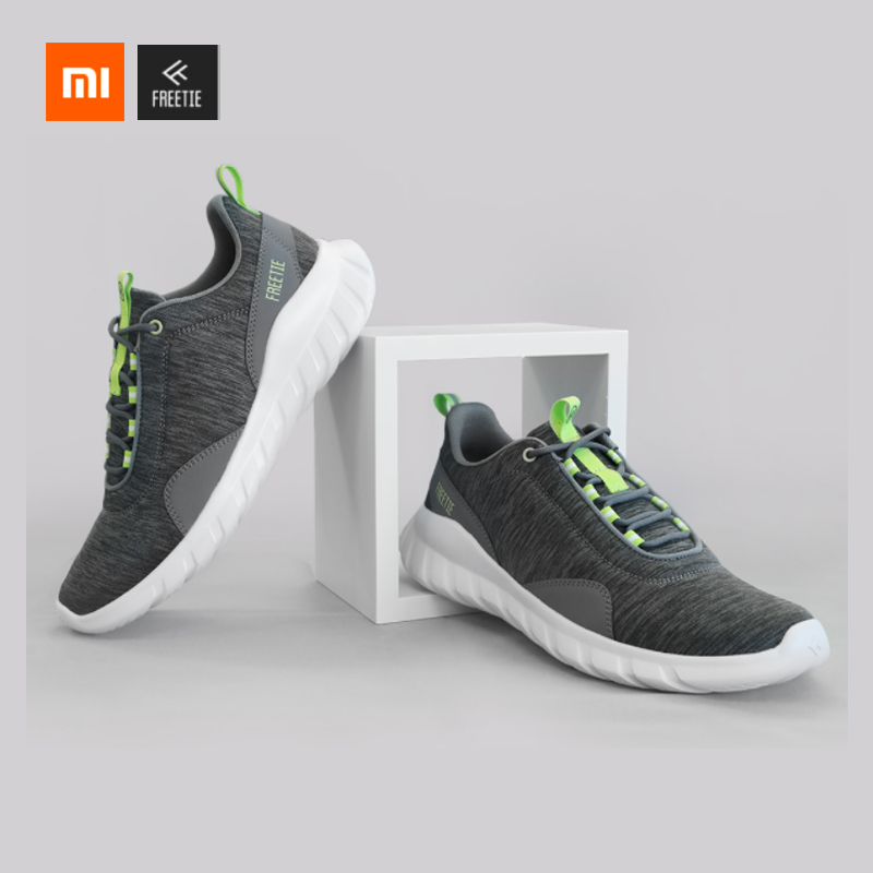 Xiaomi FREETIE 39-44 Plus Size MIJIA Men's Sports Shoes Light Breathable Knitting City Running Sneaker For Outdoor Sports