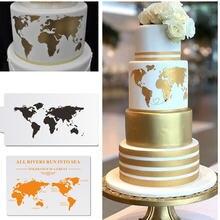Трафареты для торта с картой мира пластиковые трафареты украшения