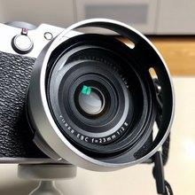 Fujifilm Fuji X100 X100s X100t 카메라 렌즈 어댑터 + 렌즈 후드 + 49mm UV 필터 + 49mm 렌즈 캡과 호환되는 4In1 액세서리