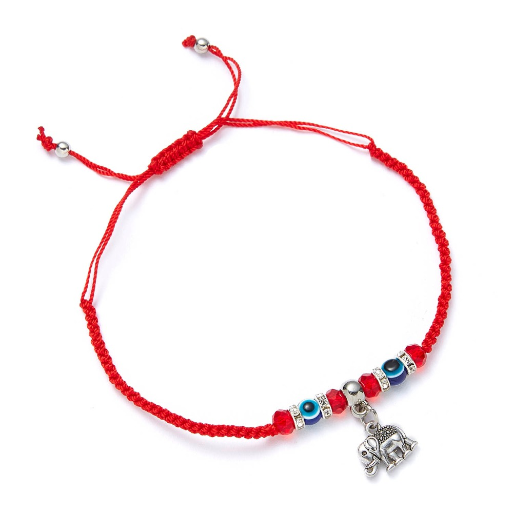 9 стилей плетеная красная нить на удачу Хамса браслет с подвесками на руку синий бисер, от сглаза браслет мода дружбы ювелирные изделия для женщин мужчин