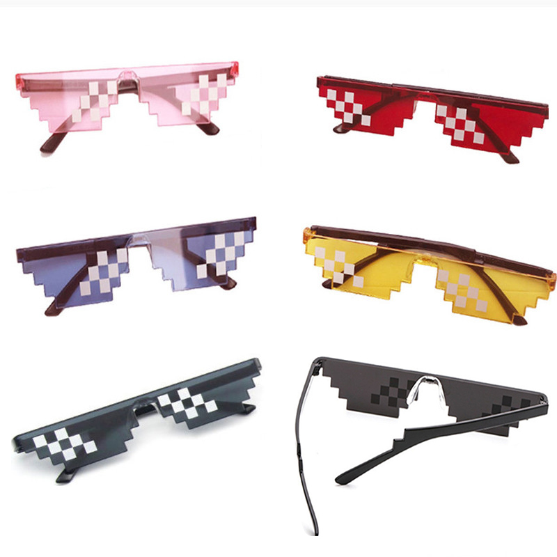 Hot 10 Color Fashion Sunglasses Kids Cos Play Action Game Toy Thug Life Glasses With EVA Case Toys For Children Gifts