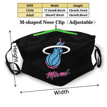 New Heat - Miami Merch Custom Design Face Mask Anti Dust Filter Diy Print Washable For Adult Kids Logo 1