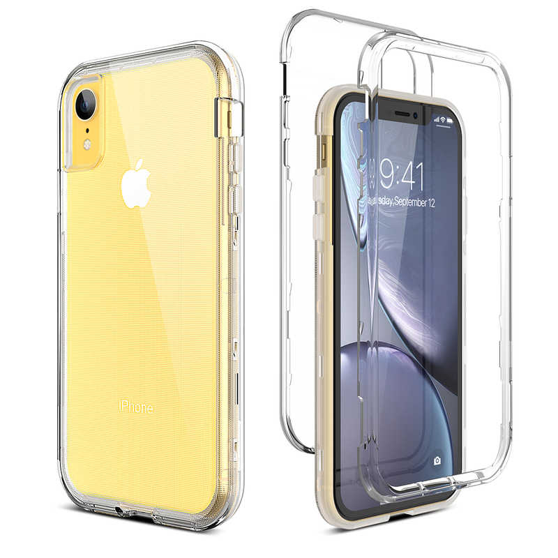 3 Di 1 Bening Tahan Guncangan Case untuk iPhone X XS Transparan Hard Cover PC Silikon Bumper Case untuk iPhone XR case Capa