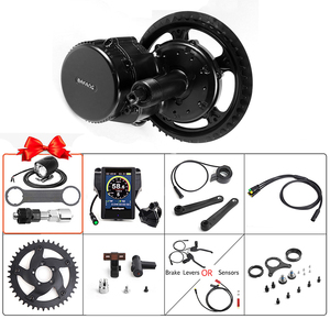 Image 1 - Bafang BBS02B Mid Drive Motor 36V 500W Electric Bicycle Conversion Kits  68 73mm E bike 8FUN Powerful Engine 44T 46T 48T 52T