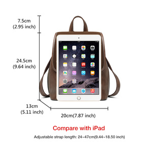 Image 4 - FOXER England Style Lady Backpack Cowhide Leather Retro Women Business Backpack Student Large Capacity School Bag Notebook Bag