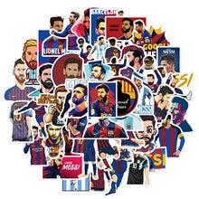 10/50 Pçs/set Basquete Estrela do Futebol Messi/Owen/Caril Adesivos Para Laptop Bicicleta Phone Case Presente Brinquedo de Criança Adesivo
