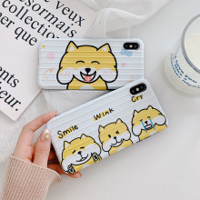 Cute cartoon Shiba Inu dog corgi Phone case for coque iPhone 7 7 Plus 6s 8 Plus xs max case for iphone cover X XR silicone case