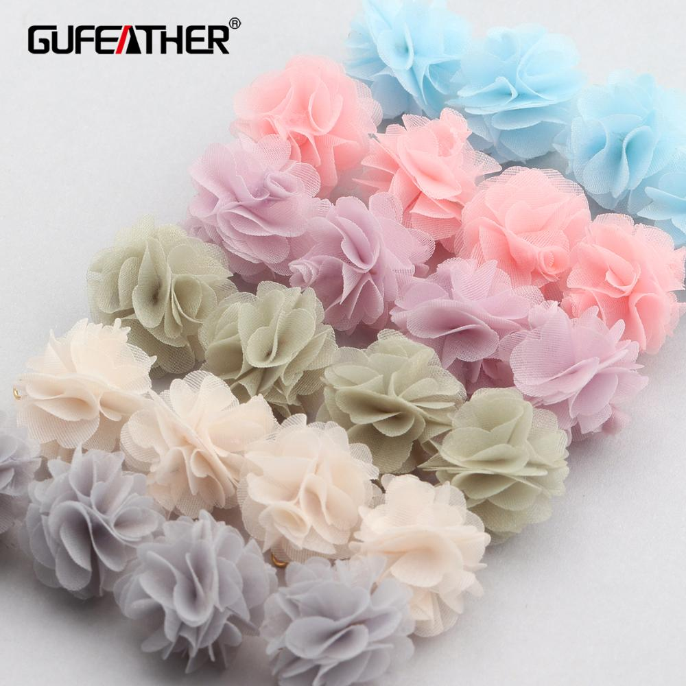 GUFEATHER F143,jewelry Accessories,diy Pendant,flower Shape,hand Made,jewelry Findings,jewelry Making,diy Earring,10pcs/lot