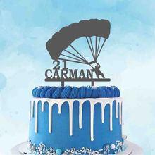 Персонализированный Топпер для параплана и торта с именем под заказ, фигура для параплана, украшение для вечеринки на день рождения