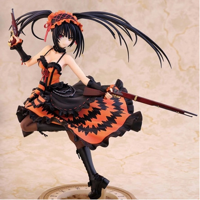 Sexy Japan Anime Date A Live Action Figure Nightmare Tokisaki Kurumi With Pistol 23cm Model Collection Kids Gift Figurine Doll