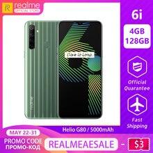 realme 6i New Global Version 4GB RAM 128GB ROM Mobile Phone Mediatek Helio G80 5000mAh Battery 6.5
