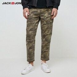 Мужские камуфляжные джинсы-карго JackJones, свободные прямые джинсы, Мужская одежда, 219432501
