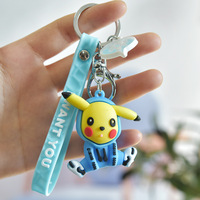 Japanischen Anime Pokémon Nette Pikachu, Sweatshirt Puppe Keychain Kreative Cartoon Handy Tasche Auto Anhänger Spaß Keychain