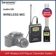 Saramonic – système de Microphone sans fil UwMic15B, avec transmetteur XLR, pour appareil photo DSLR, caméscope, Interviews, ENG