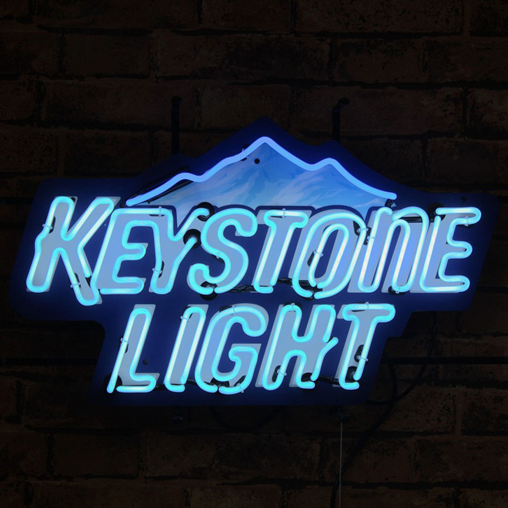 Factory Outlet Commercial Neon Signs Blue Outline Neon Glass Lights Wall Mounted Neon Signs