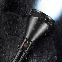 Bright most powerful XHP70.2 LED flashlight super large aluminum cup lamp head long range torch use 26650 battery USB charging