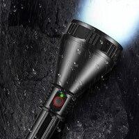 Helle mächtigsten XHP70.2 LED taschenlampe super große aluminium tasse lampe kopf lange palette fackel verwendung 26650 batterie USB lade|LED-Taschenlampen|   -